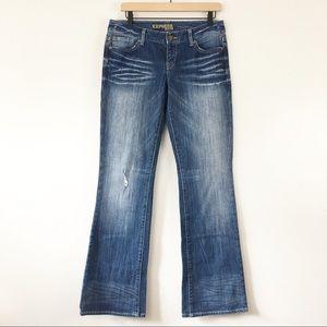Express Stella Medium Rise Boot Cut Jeans Size 6
